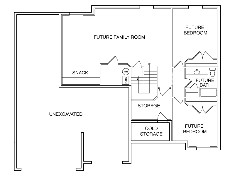Charlotte Basement Floor Plan Large Concord Homes Concord Homes